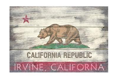 Irvine, California - Barnwood State Flag