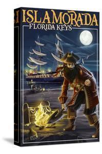 Islamorada, Florida Keys - Pirate and Treasure by Lantern Press