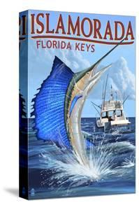 Islamorada, Florida Keys - Sailfish Scene by Lantern Press