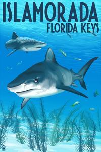 Islamorada, Florida Keys - Tiger Shark by Lantern Press