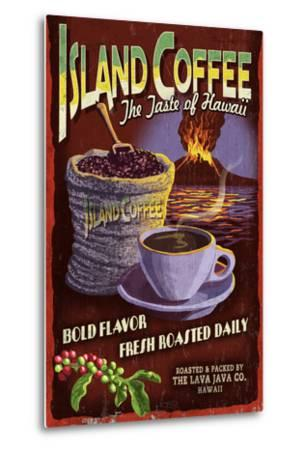 Island Coffee - Vintage Sign