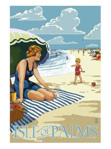 Isle of Palms, South Carolina - Beach Scene by Lantern Press
