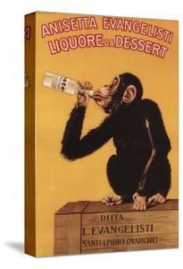 Italy - Anisetta Evangelisti Liquore da Dessert Promotional Poster by Lantern Press