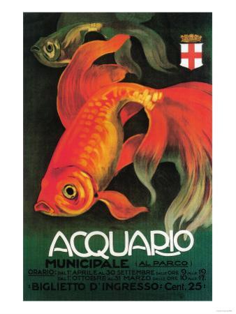 Italy - Aquarium & Municipal Park Promotional Poster by Lantern Press