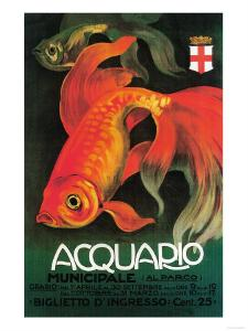 Italy - Aquarium & Municipal Park Promotional Poster by Lantern Press