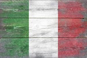 Italy Country Flag - Barnwood Painting by Lantern Press