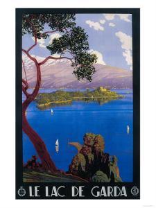 Italy - Lake Garda Travel Promotional Poster by Lantern Press