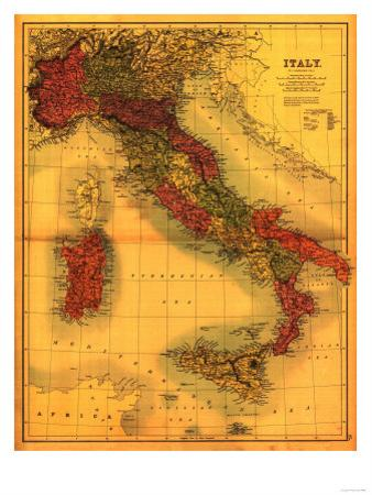 Italy - Panoramic Map