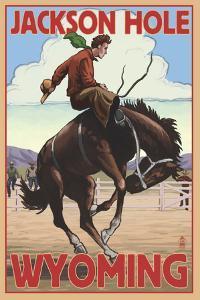 Jackson Hole, Wyoming Bucking Bronco by Lantern Press