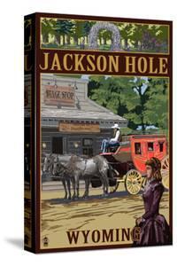 Jackson Hole, Wyoming Stagecoach by Lantern Press