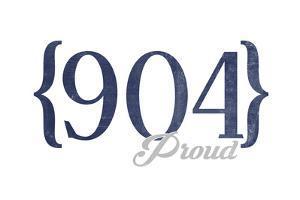 Jacksonville, Florida - 904 Area Code (Blue) by Lantern Press
