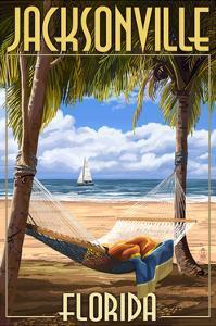 Jacksonville, Florida - Palms and Hammock by Lantern Press