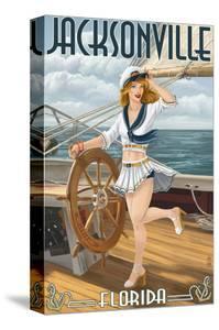Jacksonville, Florida - Sailing Pinup Girl by Lantern Press