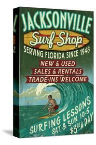 Jacksonville, Florida - Surf Shop by Lantern Press