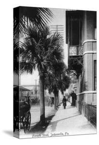 Jacksonville, Florida - View Down Forsyth Street by Lantern Press