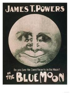 James T. Powers in The Blue Moon Theatre Poster by Lantern Press