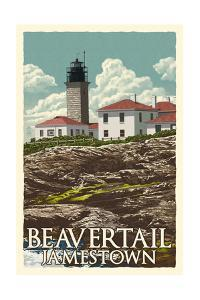 Jamestown, Rhode Island - Beavertail Lighthouse by Lantern Press