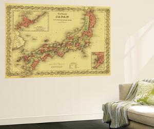 Japan - Panoramic Map by Lantern Press