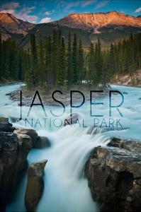 Jasper National Park, Alberta, Canada - Sunwapta Falls by Lantern Press