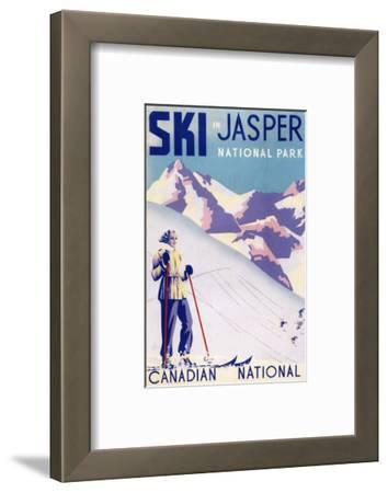 Jasper National Park, Canada - Woman Posing Open Slopes Poster