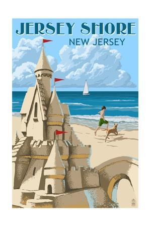 Jersey Shore - Sandcastle by Lantern Press