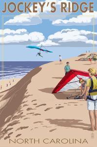 Jockey's Ridge Hang Gliders - Outer Banks, North Carolina by Lantern Press
