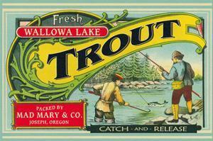 Joseph, Oregon - Wallowa Lake Trout Label by Lantern Press