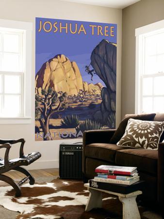 Joshua Tree National Park, California, Boulder Climber by Lantern Press
