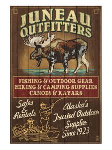 Juneau, Alaska - Moose Outfitters by Lantern Press