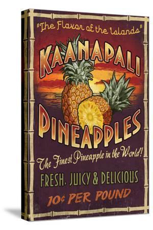Kaanapali, Hawaii - Pineapple Vintage Sign
