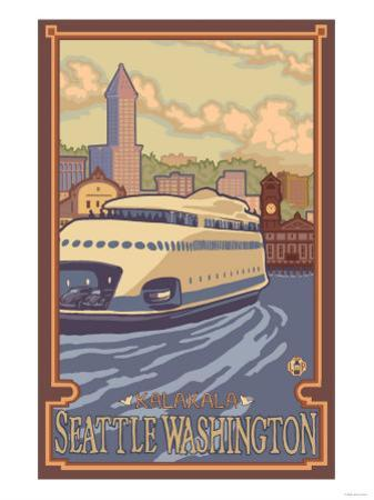 Kalakala Ferry, Seattle, Washington by Lantern Press