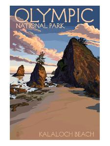 Kalaloch Beach - Olympic National Park, Washington by Lantern Press
