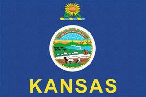 Kansas State Flag by Lantern Press