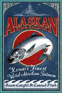 Kenai River, Alaska - Salmon by Lantern Press
