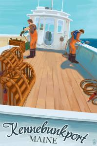 Kennebunkport, Maine - Lobster Boat by Lantern Press