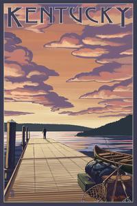Kentucky - Dock Scene and Lake by Lantern Press