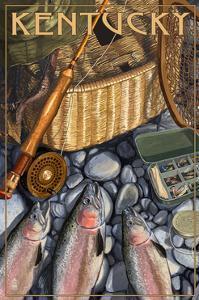 Kentucky - Fishing Still Life by Lantern Press
