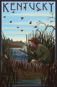 Kentucky - Hunter and Lake by Lantern Press