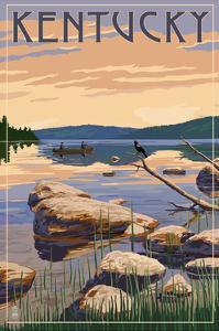 Kentucky - Lake Sunrise Scene by Lantern Press