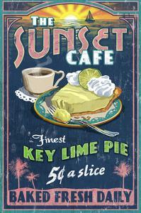 Key Lime Pie - Vintage Sign by Lantern Press