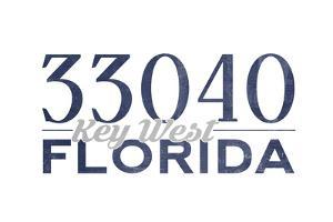 Key West, Florida - 33040 Zip Code (Blue) by Lantern Press