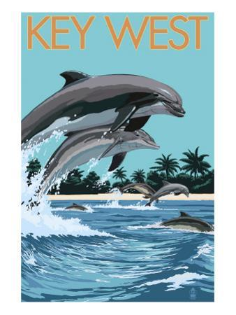 Key West, Florida - Dolphins Swimming