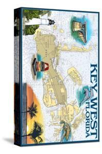 Key West, Florida - Nautical Chart by Lantern Press