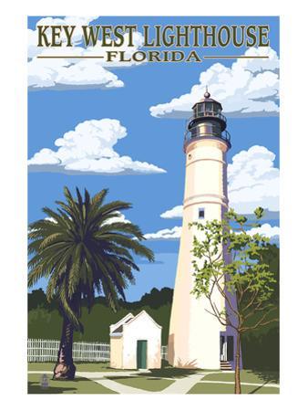 Key West Lighthouse, Florida Day Scene