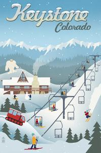 Keystone, Colorado - Retro Ski Resort by Lantern Press
