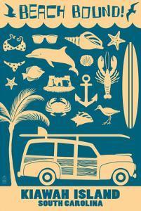 Kiawah Island, South Carolina (#3) - Coastal Icons by Lantern Press