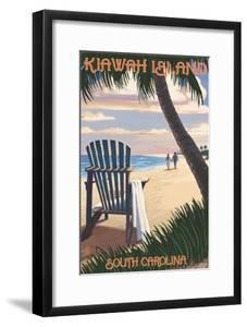 Kiawah Island, South Carolina - Adirondack and Palms by Lantern Press