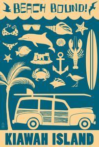 Kiawah Island, South Carolina - Coastal Icons by Lantern Press