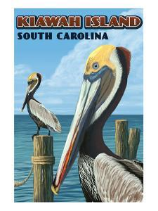 Kiawah Island, South Carolina - Pelicans by Lantern Press