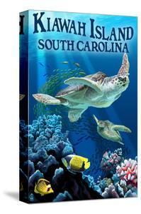 Kiawah Island, South Carolina - Sea Turtles Swimming by Lantern Press